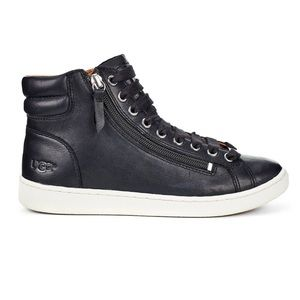 NIB UGG Olive 5.5 black leather high top sneaker